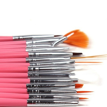 15 Pieces red Color Professional Nail Art Brushes, Nail Art Brush Pen