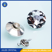 Glass button factory Fashion crystal snap button for sofa