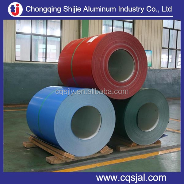 china aluminium manufacture roll coated prepainted aluminum coil