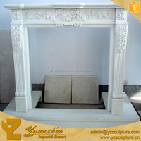 Home Decoration Hand Carved Marble Fireplace Frame