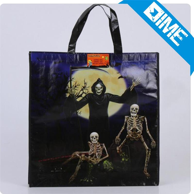 Trendy Cheap Cute Custom Printed Halloween Shopping Bags