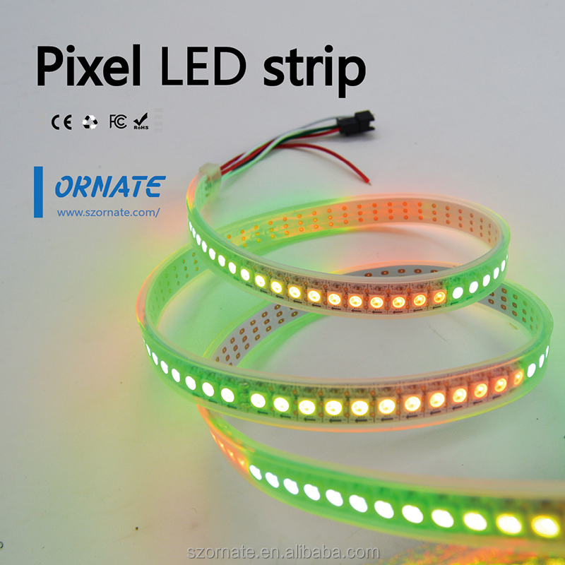 Factory Price Waterproof programmable RGB LED Strip 5050 ws2811 ws2812 60LEDS/M 5v/12V/24V CE ROHS