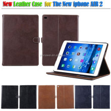 Genuine Leather Wallet Leather Tablet Case For ipad air 2