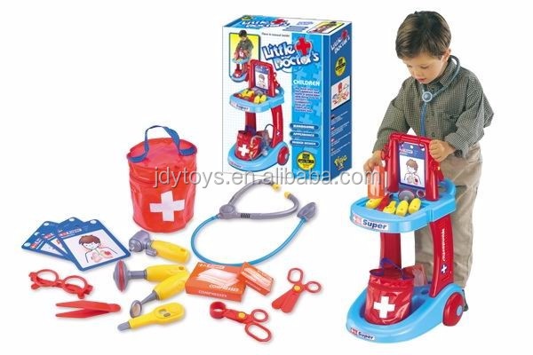 Kids play house doctor cart toy play doctor cart doctor toy for pretend