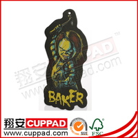 New design,promotional paper car air freshener for advertising giveaway for decoration
