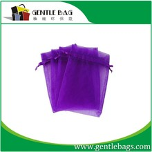 Purple color Organza Drawstring Gift Bag Pouch Wrap for Party/Game/Wedding