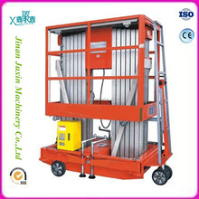 Widely used hydraulic mobile aluminium alloy material double poles lift table