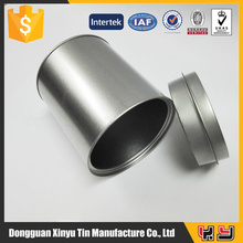 Round Metal Tin Coffee Can food grade tin,silver tin