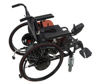 6KMH! 24v 17ah battery operated wheelchair with 24v 180w motor