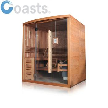 Health care 2~4people Chinese factory red cedar Wood sauna steam room