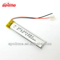small lipo battery 401052 170mAh 3.7V for video pen