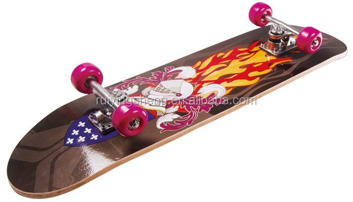 9 ply Chinese maple Skate Board with single kick tail