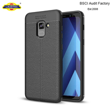 2018 Hot Selling Litchi TPU Gel Case For Samsung Galaxy A7 2018 Silicone Cover
