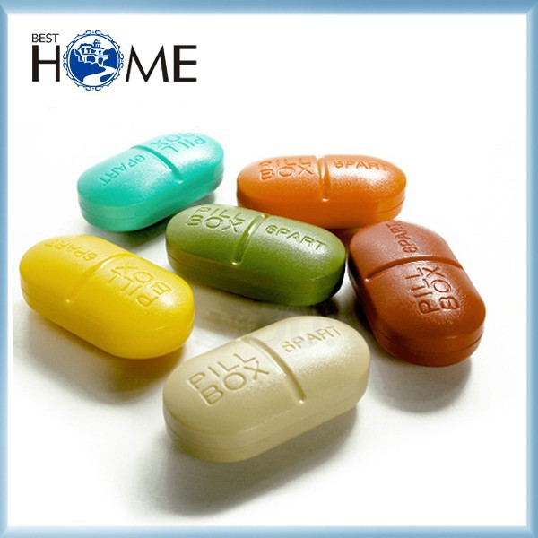 Novelty Capsule Shaped Pill Box , Cute Pill Case , Travel Pill Box