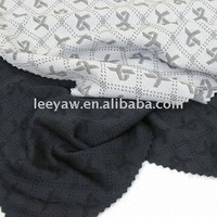 Bamboo Charcoal Interlock Jacquard Pique Fabric