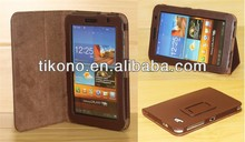 Hot selling stand leather case for samsung tab p6200 p3100