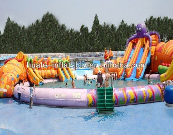 Best Quality resonable price Hot summer inflatable water park with slide/inflatable Aqua Park/inflatable water parks(Awesome)