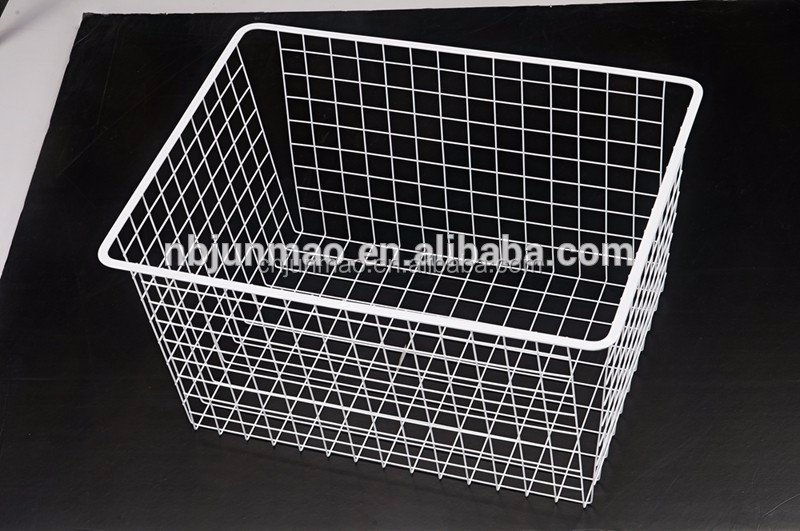 Stackable metal basket,wire mesh storage baskets organizer for sale