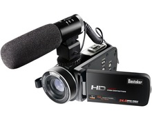 Wifi Camcorder Full HD 1080P 30FPS Portable Digital Video Camera with External Microphone (HDV-Z20) Excellent Quality