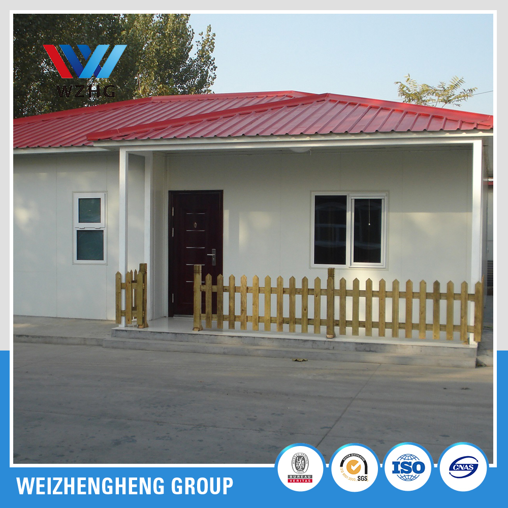 high quality steel structure prefabricated house for france