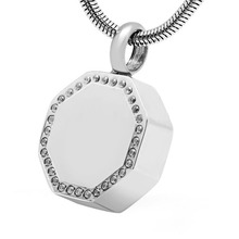 Stainless Steel Ball Cremation Pendant Pet Cremation Ems Memorial Jewelry