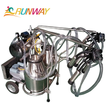 High quality rotary vane vacuum pump portable mobile cow milker