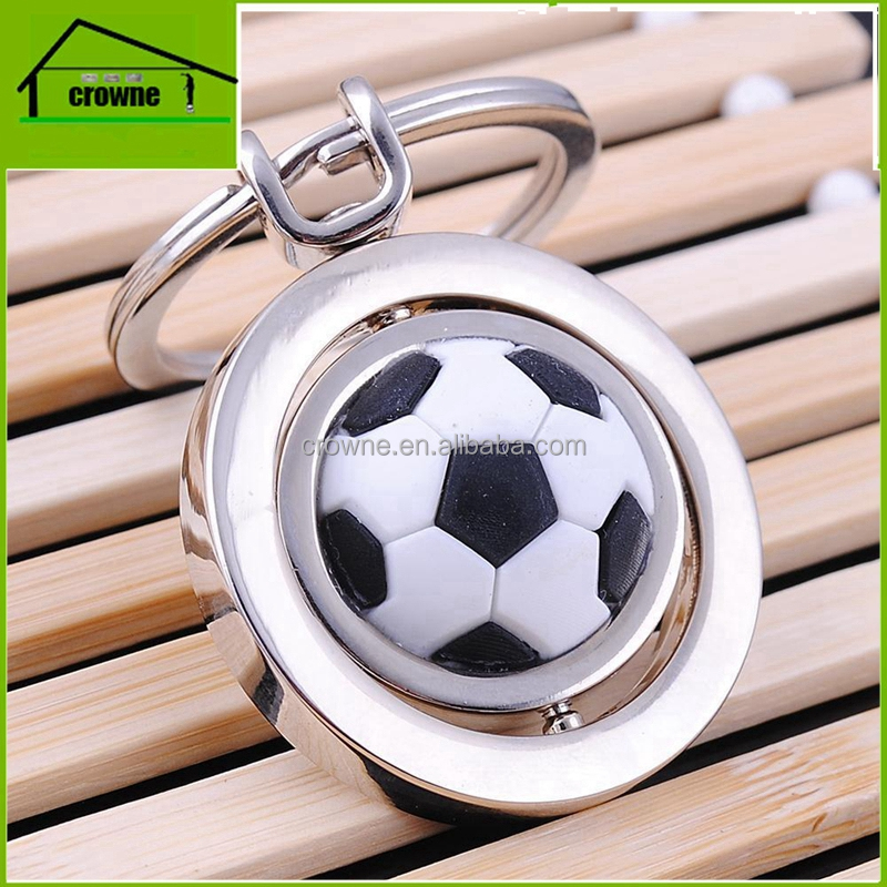 2017 new soccer ball metal keyring, cut out shape keychain, keychains for sport
