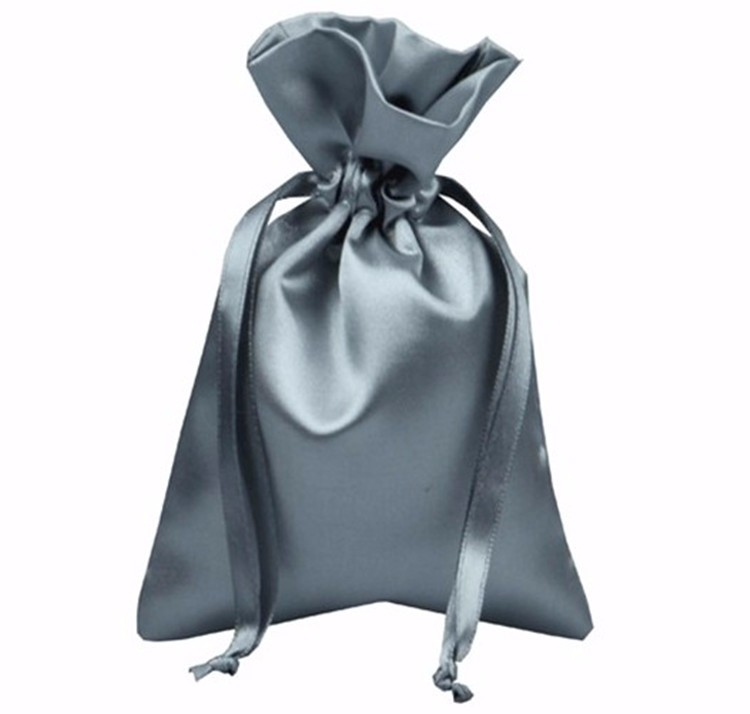 Best Selling Silvery Satin Drawstring Jewelry Packaging Bags Fit Lovely Beads