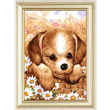 Dog design dog pattern menglei diy oil painting by numbers 40*50cm