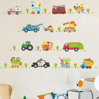 Cartoon Car Wall Sticker For Kids Room Decoration