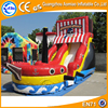 Beautiful and hot sale big inflatable slide for kids, pirate boat inflatable slide