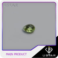 Wholesale Prefessional Olive Green Heart Shape Cubic Zirconia for Jewelry Set
