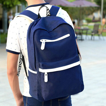 leisure school canvas backpack for college boys