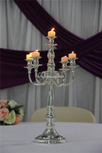 Christmas decoration 20 inch candle holder/IDAtealight candle holders glass silver decorative/crystal candle holder centerpieces