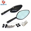 Universal Black CNC Aluminum Rearview Side Mirrors With Smoke Blue Glass Motorcycle Rear View Mirror For 8mm or 10mm Screws