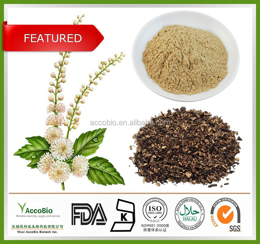 100% Natural Black Cohosh P.E. 2.5% 5% 8% , support menopause
