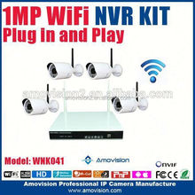 new products 4ch 720p nvr kit night vision home security alarms systems plug and play cctv system