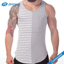 Customized Men New Style Plain 95% Cotton 5% Spandex Tank Top Gym Tank Top