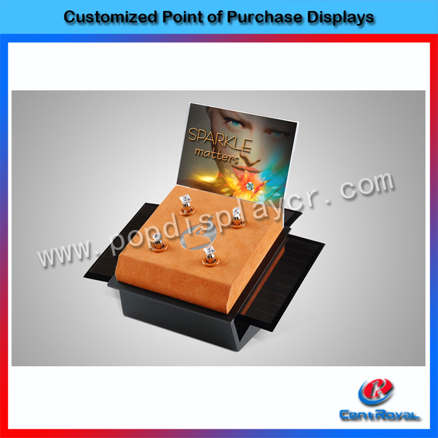 Fashional design high end outside wholesale wooden earring display stand