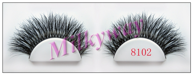 Milkyway beautiful thick double real horse false eyelashes 8102