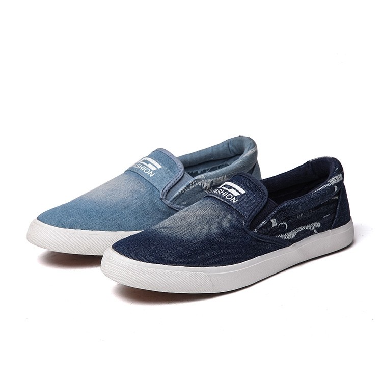 aibixi free sample small order comfortable slip on casual denim shoes for man - Free Sample Shoes