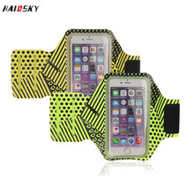 HAISSKY New design sports Armband case for iphone 7 7 plus for Samsung Galaxy S6 Gym running armband