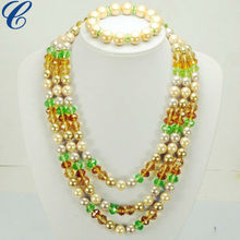 Glass Crystal Pearl Jewellers Sets