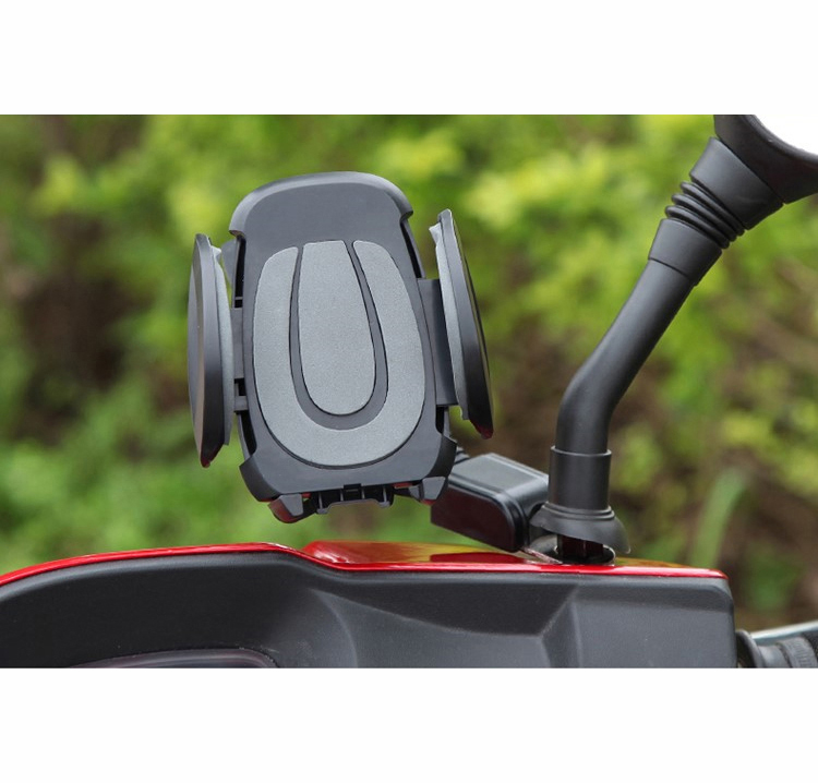 universal motorcycle phone holder 360 degree rotating cell phone holder for motorcycle