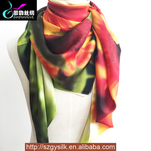 Lady Art Digital Custom Printing Polyester/Silk Scarf And Shawl 2017