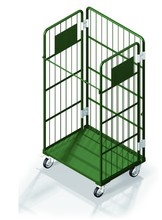 Foldable Medium Duty Stainless Steel Roll Pallet Cage