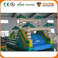 Jungle Inflatable Obstacle Course Jumping Castle With Slide For Sale
