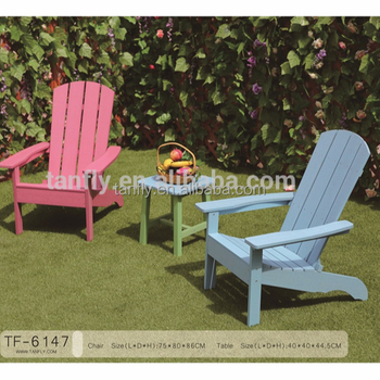 Outdoor Furniture waterproof Polywood Adirondack Chair TF-6147