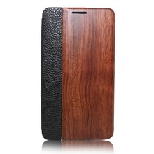 For samsung galaxy note 3 wood book case wood leather flip case