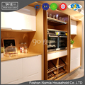 china modern design hidden kitchen cabinet with shaker handle
